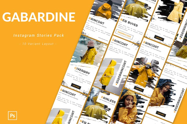Thumbnail for Gabardine - Instagram Story Pack