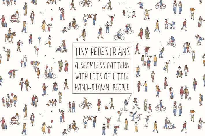 Thumbnail for Tiny Pedestrians Seamless Pattern
