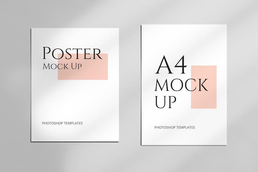A4 & Letter Paper Mockup