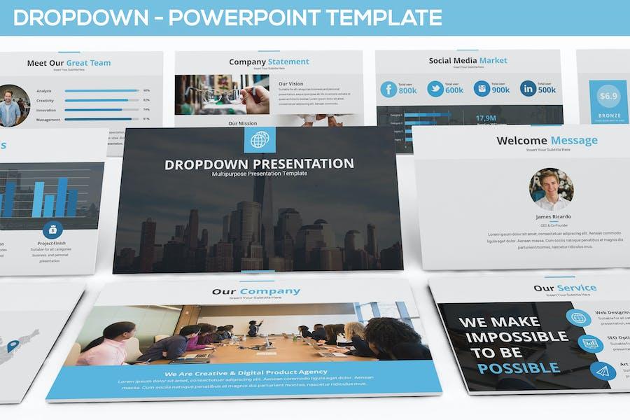 Выпадающее Шаблон презентации Powerpoint