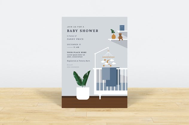 Minimalist Baby Shower Invitation