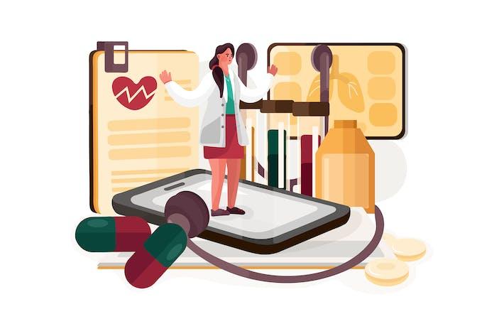 Abbildung des digitalen Gesundheitsdienstes