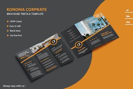 Konoma - Trifold Brochure Template