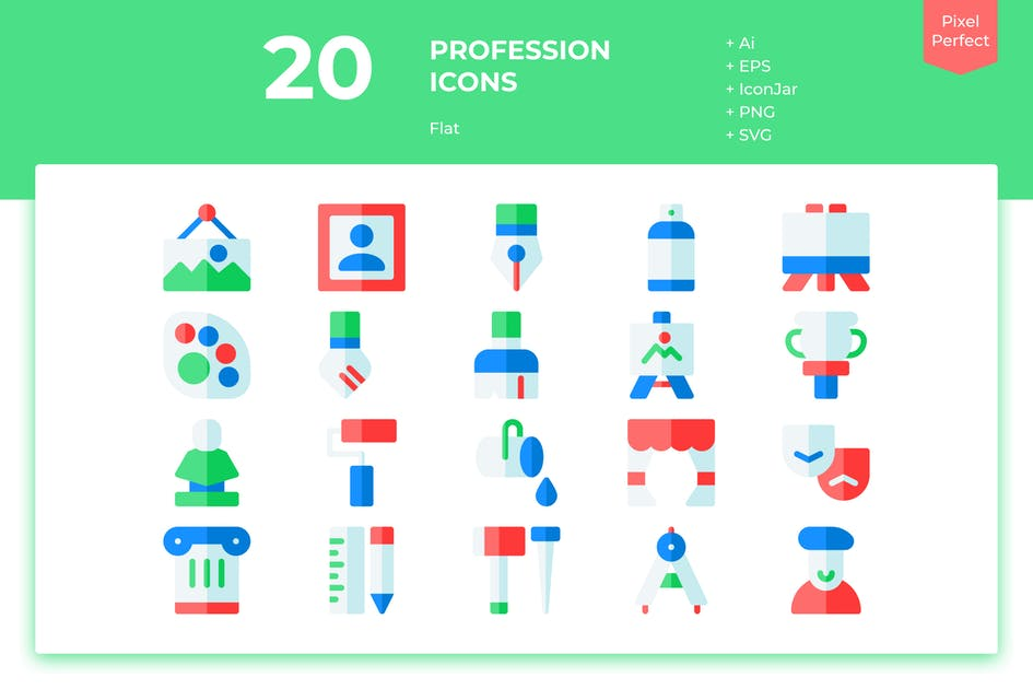Download 20 Art Icons (Flat) by inipagi