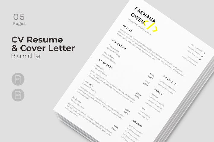 Cover Image For Majestic CV Resume Design