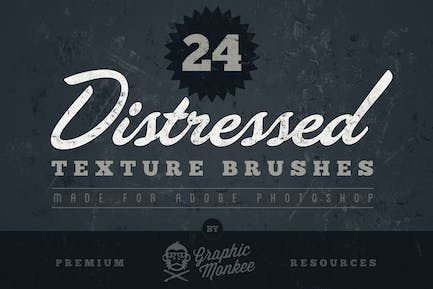 24 Distressed Texture Brushes