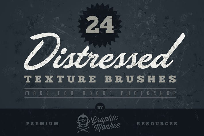 Thumbnail for 24 Distressed Texture Brushes