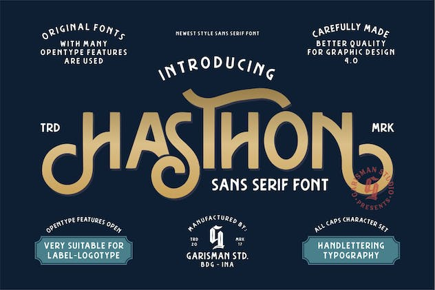 Hasthon | Modern Sans Serif - product preview 9
