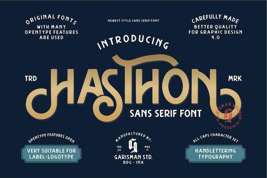 Hasthon   Modern Sans Serif