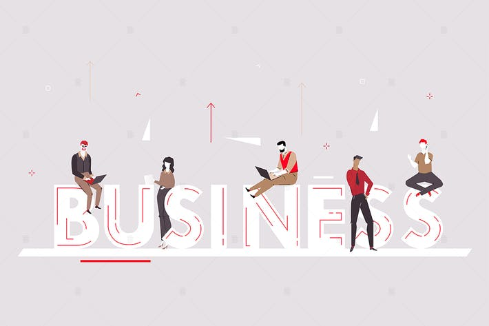 Thumbnail for Business - flat design style colorful illustration