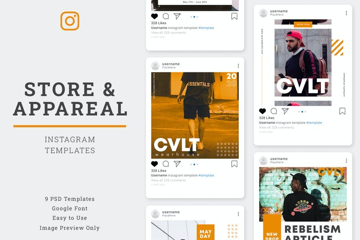Thumbnail for Store & Aparel Instagram Post Template