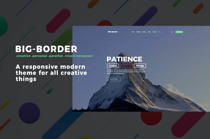 Thumbnail for Big Border - Landing Page Portfolio