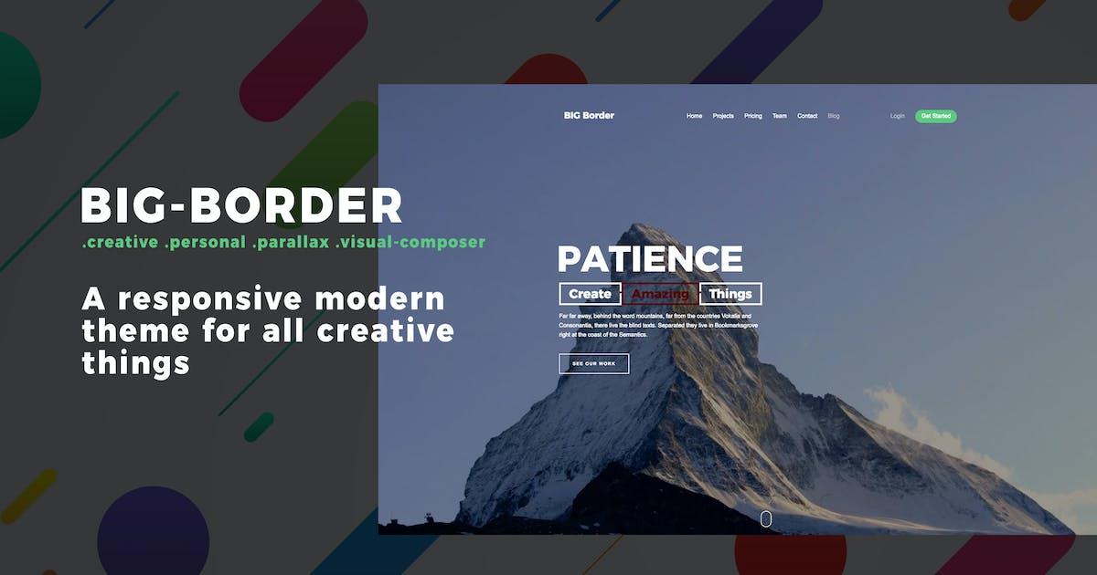 Download Big Border - Onepage Portfolio Bootstrap Portfolio by Ninetheme
