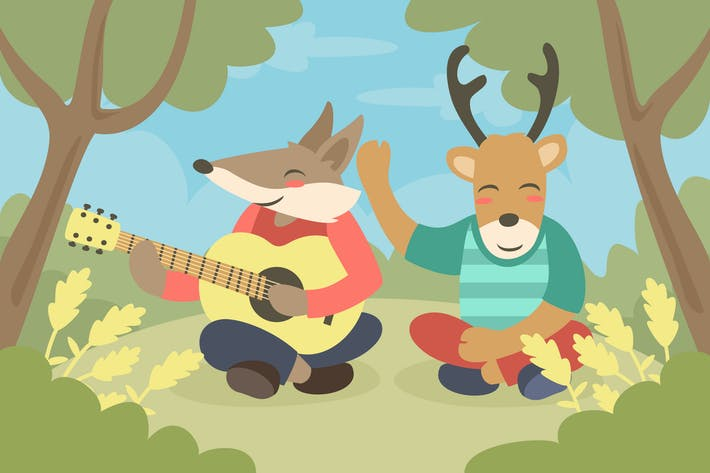 Thumbnail for Family Cute Animal - Vector Illustration