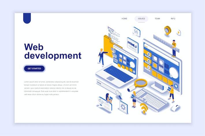 Thumbnail for Web Development Isometric Landing Page