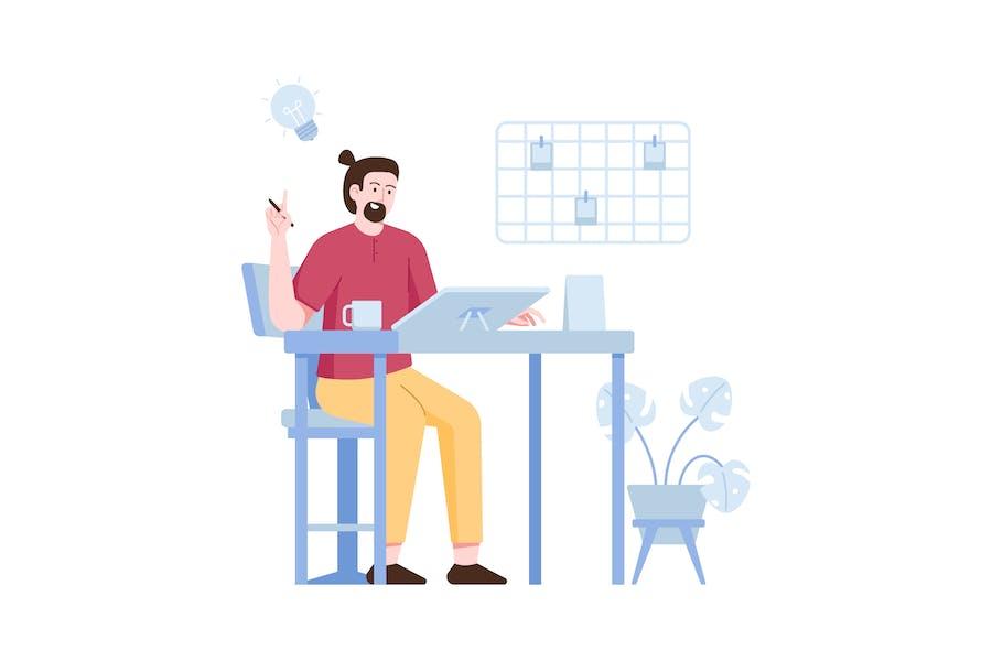 Creative idea Flat Illustration