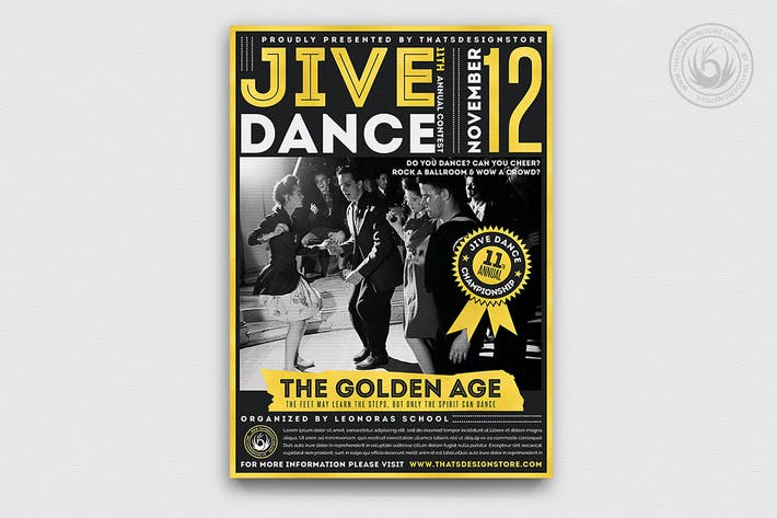Thumbnail for Jive Dance Flyer Template