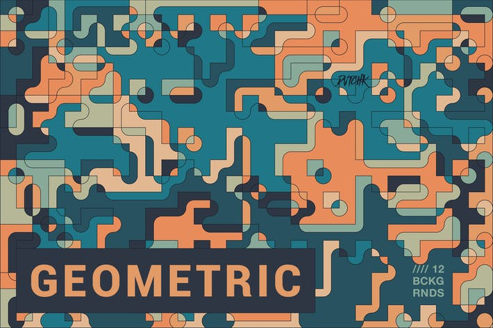 Thumbnail for Geometric | Abstract Composition Backgrounds