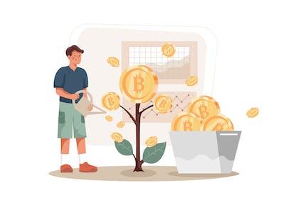 Blockchain Investment Illustration Concept