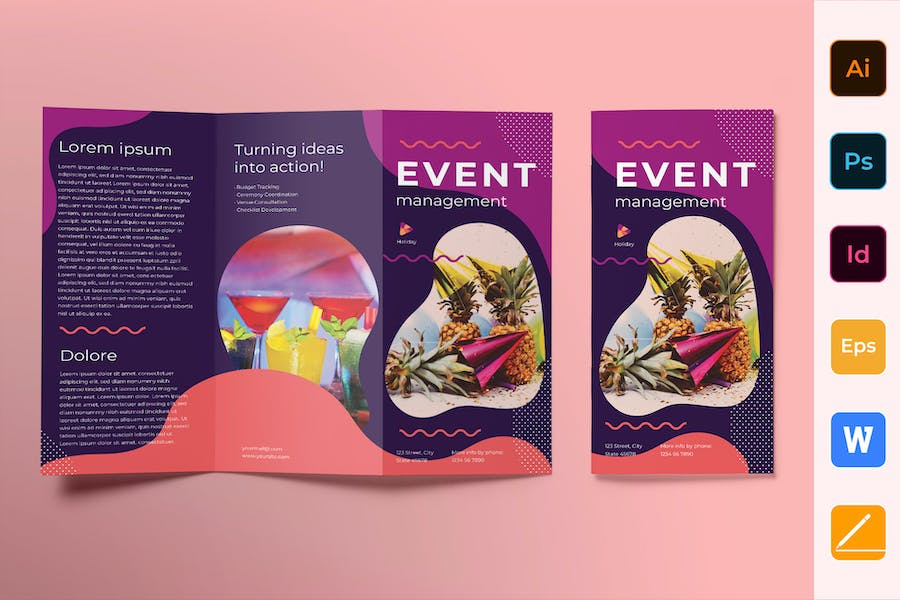 Event Management Brochure Trifold