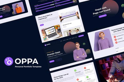 Oppa - Personal Portfolio Web Template
