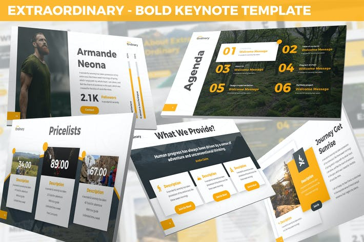 Thumbnail for Extraordinary - Bold Keynote Template