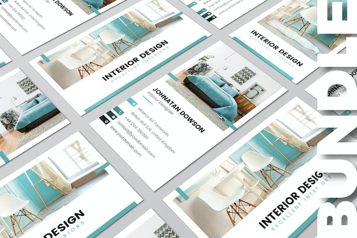 Thumbnail for Business Card – Interior Design Bundle 2 in 1