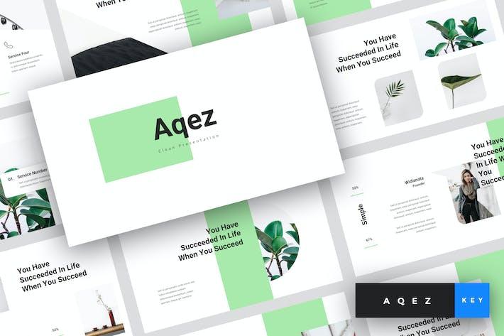 Thumbnail for Aqez - Clean Keynote Template