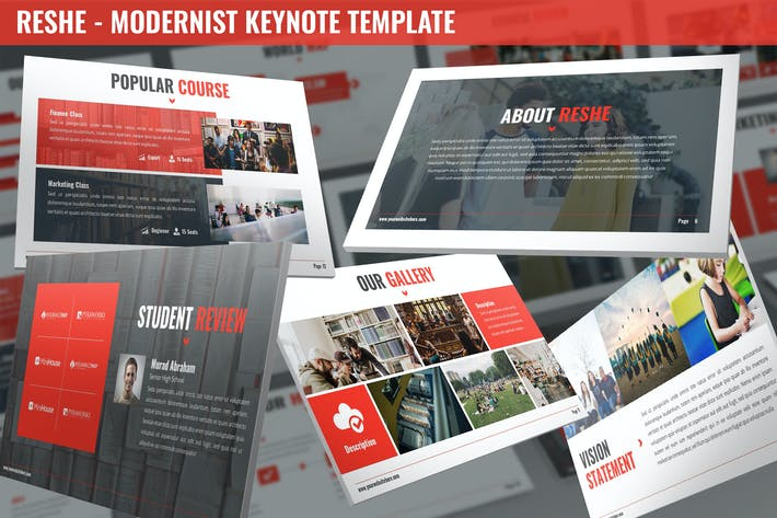 Thumbnail for Reshe - Modernist Keynote Template