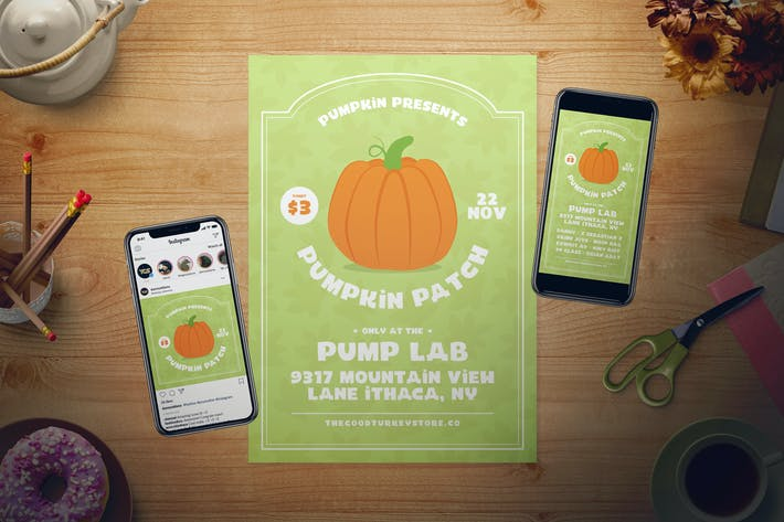 Thumbnail for Pumpkin Patch Flyer Set