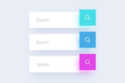3 Colored Search Field