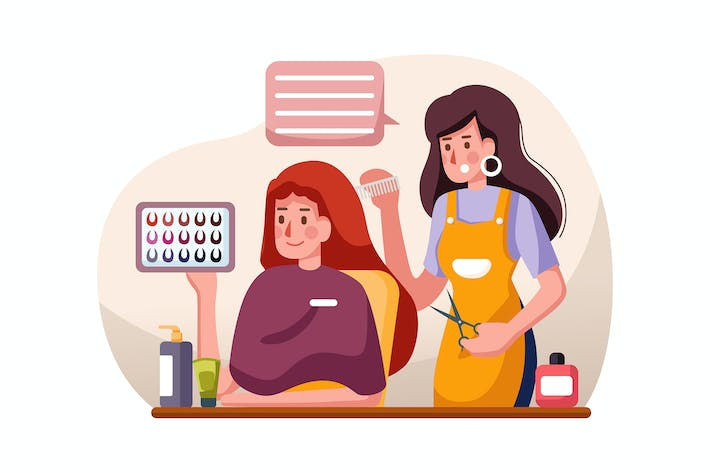 Thumbnail for Beauty salon vector illustration concept