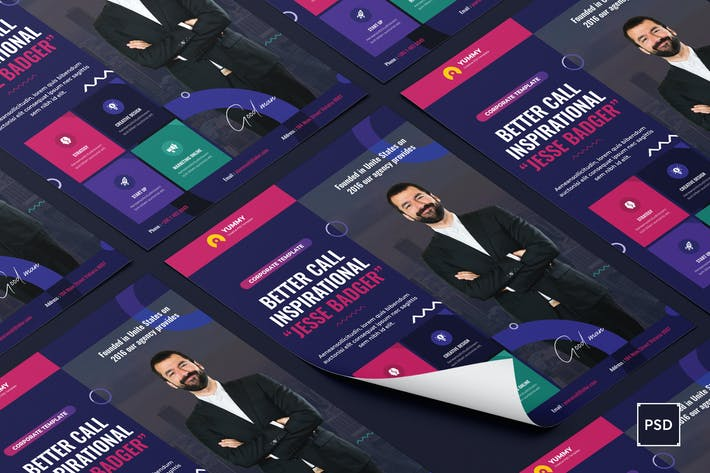 Thumbnail for Business,Corporate Flyer PSD Template