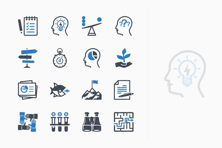 Thumbnail for Business Management Icons Set 3 - Blue Series