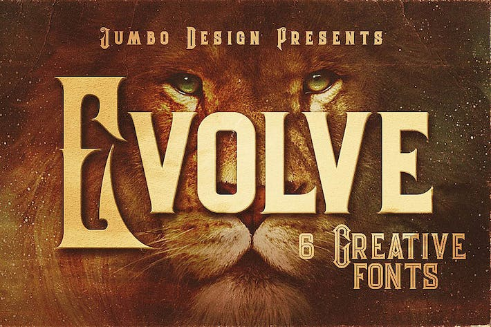 Thumbnail for Evolve - Vintage Style Font