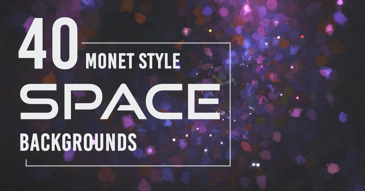 Download 40 Monet Style Space Backgrounds by Eldamar_Studio