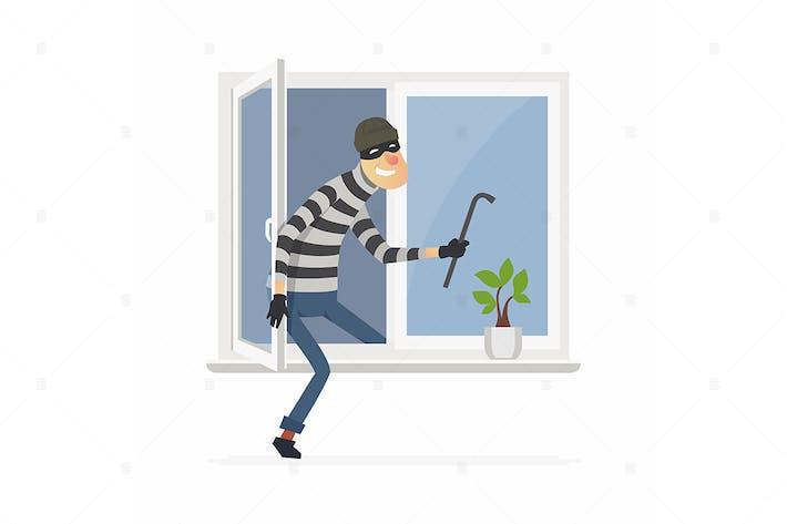 Thumbnail for Burglar - cartoon people characters illustration