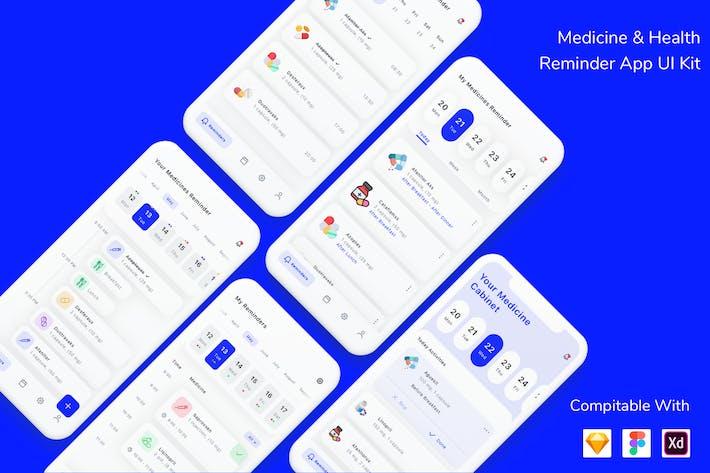 Medicine & Health Reminder App UI Kit