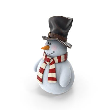 Muñeco de nieve en sombrero