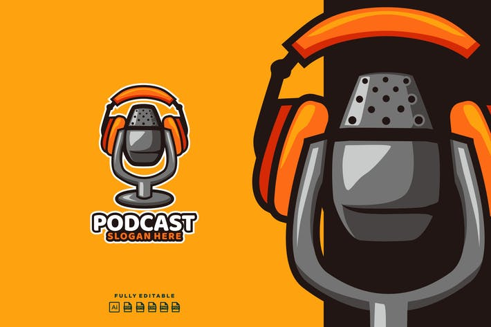 Thumbnail for Podcast Mic Logo