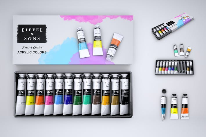 Thumbnail for Set of Paint Tubes Mock-Up