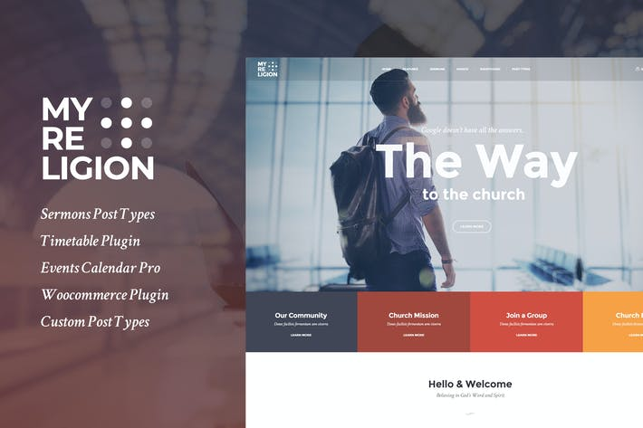 Thumbnail for My Religion - Dedicated Church WordPress Theme