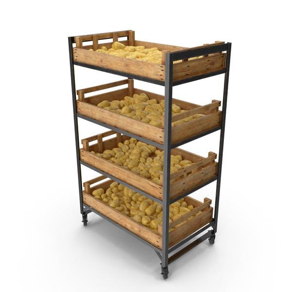Shelf With Potatoes