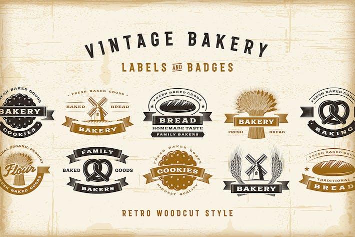 Thumbnail for Vintage Bakery Labels Set