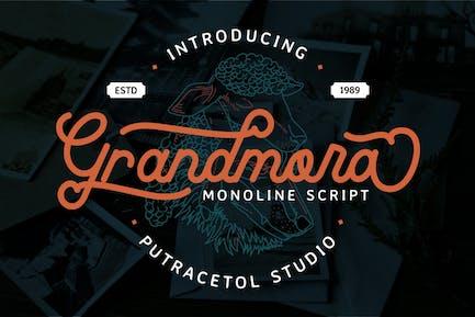Grandmora - Monoline Script