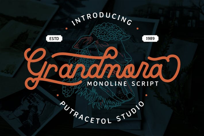 Thumbnail for Grandmora - Monoline Script