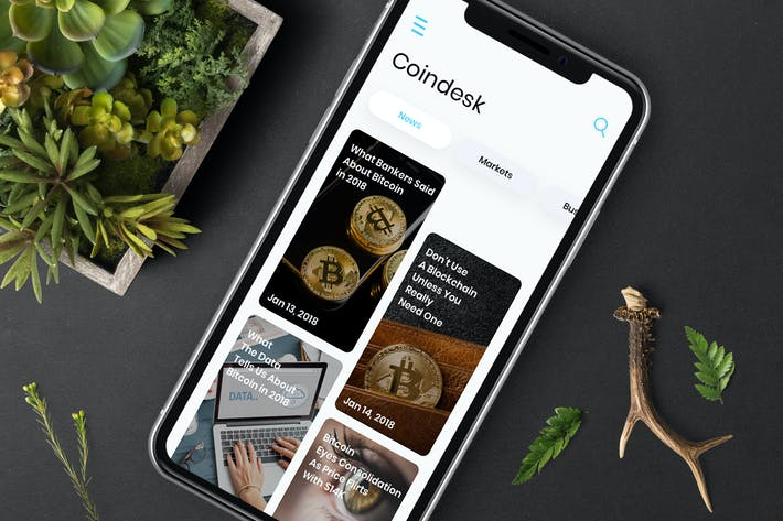 Thumbnail for Cryptocurrencies News Mobile Ui - T