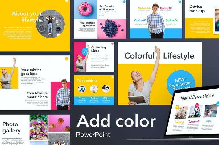 Cover Image For Add Color PowerPoint Template