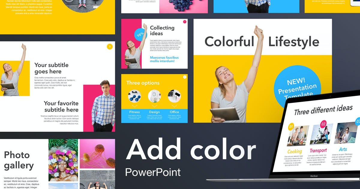 Download Add Color PowerPoint Template by Unknow