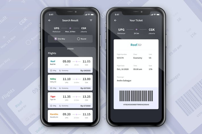 Thumbnail for Flight Booking Ticket App Screen